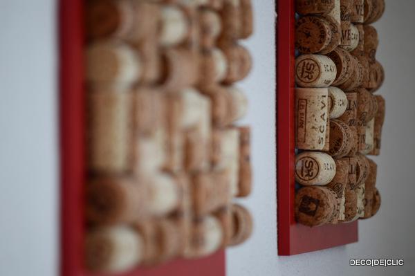 a DIY idea to create a cork chart for your photos